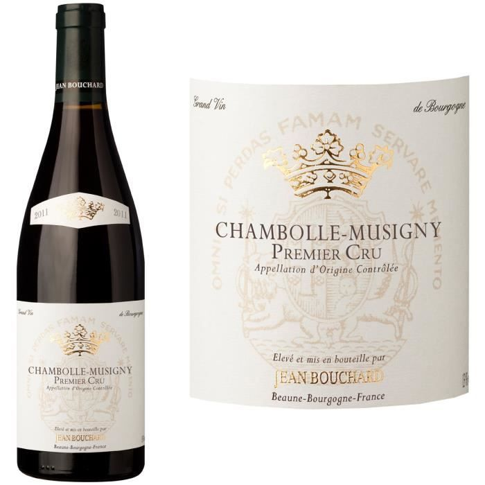 Jean Bouchard 2011 Chambolle Musigny 1er Cru - Vin rouge de Bourgogne