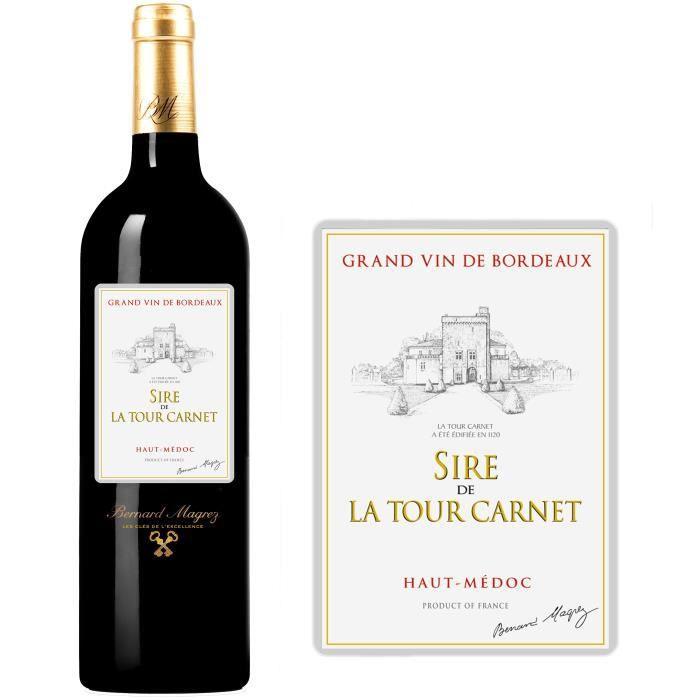 Sire de la Tour Carnet 2012 Haut Médoc - Vin rouge de Bordeaux