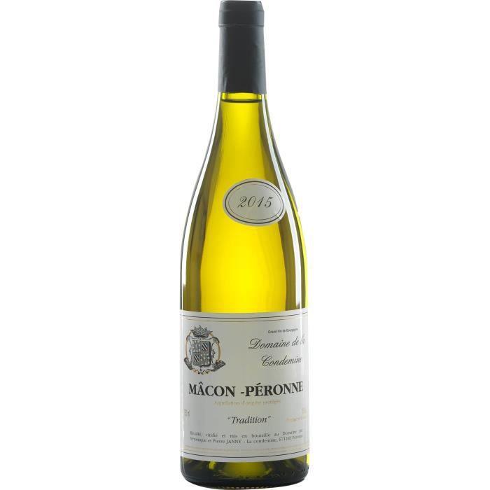 Domaine de la Condemine 2015 Mâcon Péronne - Vin blanc de Bourgogne