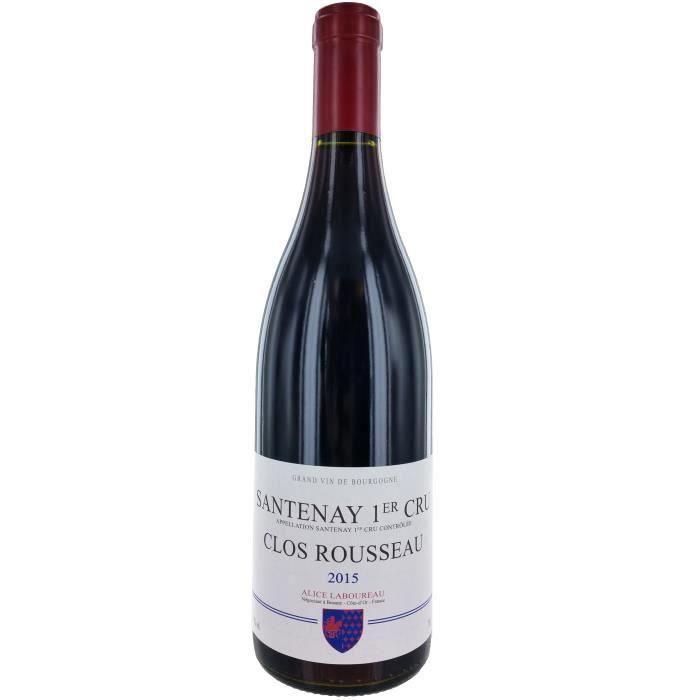 Alice Laboureau Clos Rousseau 2015 Santenay - Vin rouge de Bourgogne