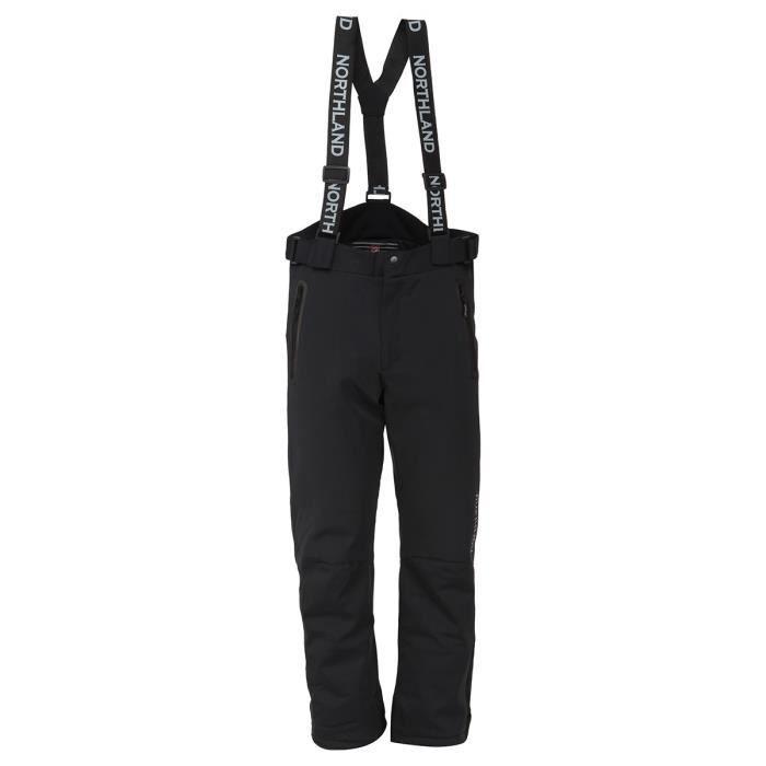 NORTHLAND Pantalon de ski Softshell Homme - Noir