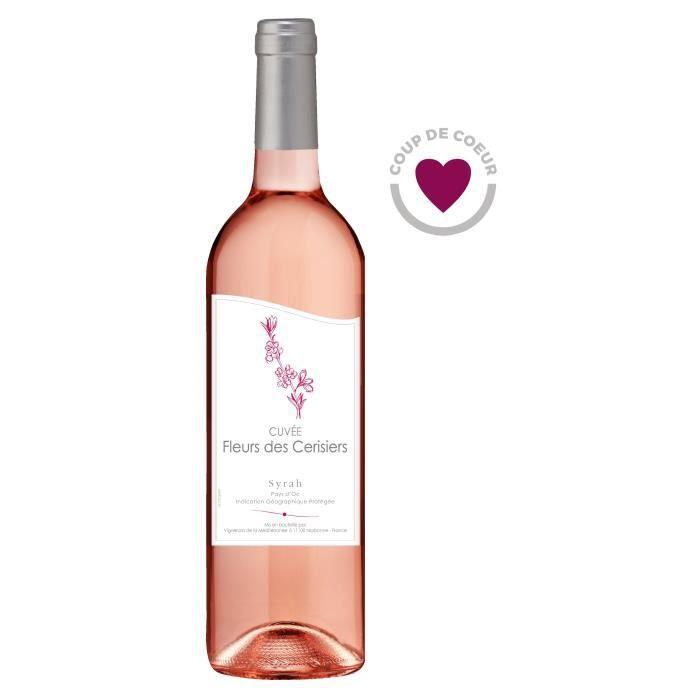 Fleurs des Cerisiers Syrah - Vin rosé du Languedoc-Roussillon