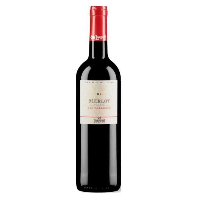 Les Terrasses 2018 IGP Pays d'Oc Merlot - Vin rouge du Languedoc Roussillon