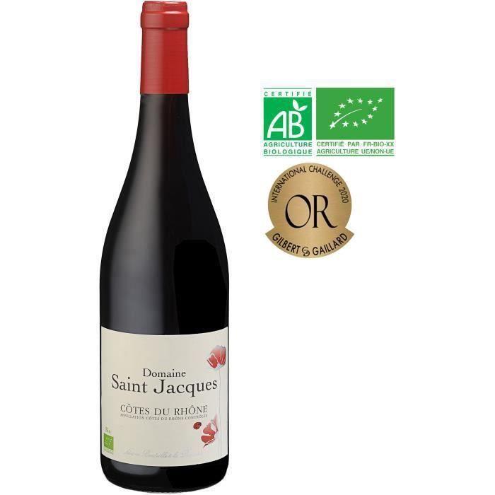 Domaine Saint Jacques 2019 Côtes du Rhône - Vin Rouge de Vallée du Rhône Bio