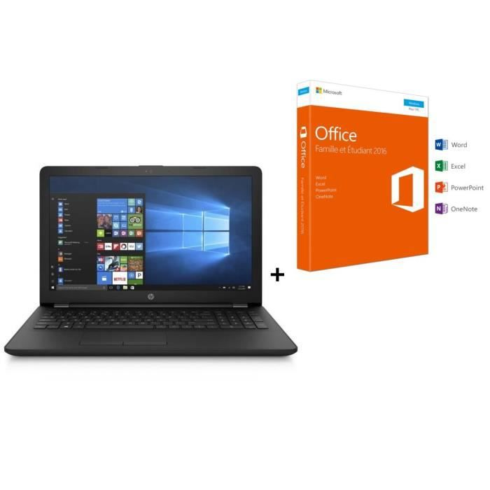 HP PC Portable- HP15bs086nf - 15.6\