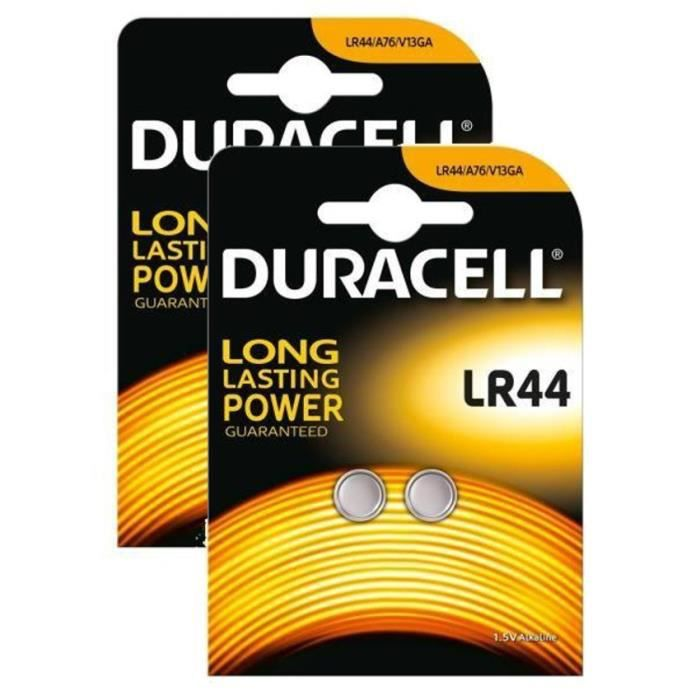 DURACELL 4 Piles Bouton LR44