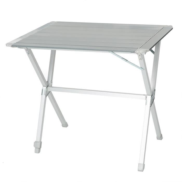 TRIGANO Table Aluminium 80