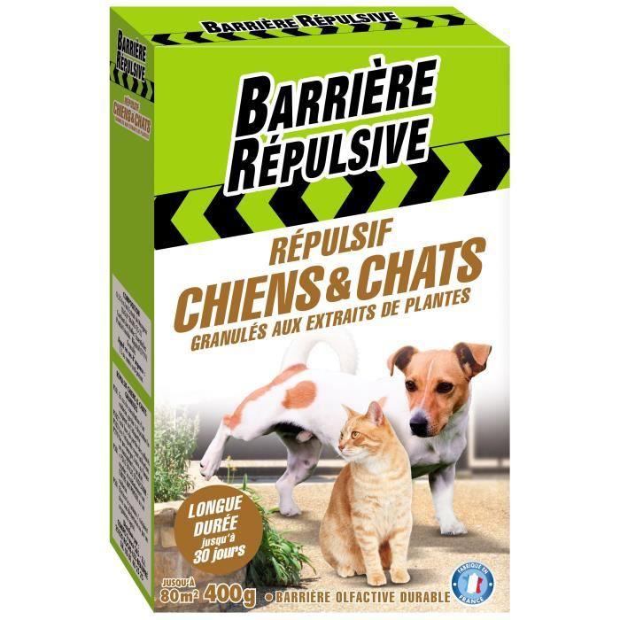 BARRIERE REPULSIVE Répulsif Chiens et Chats - granulés prêts à l'emploi - 400g