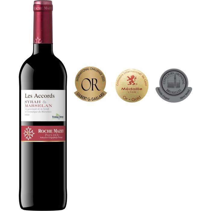 Les Accords de Roche Mazet Syrah & Marselan 2019 Pays d'Oc - Vin rouge de Languedoc