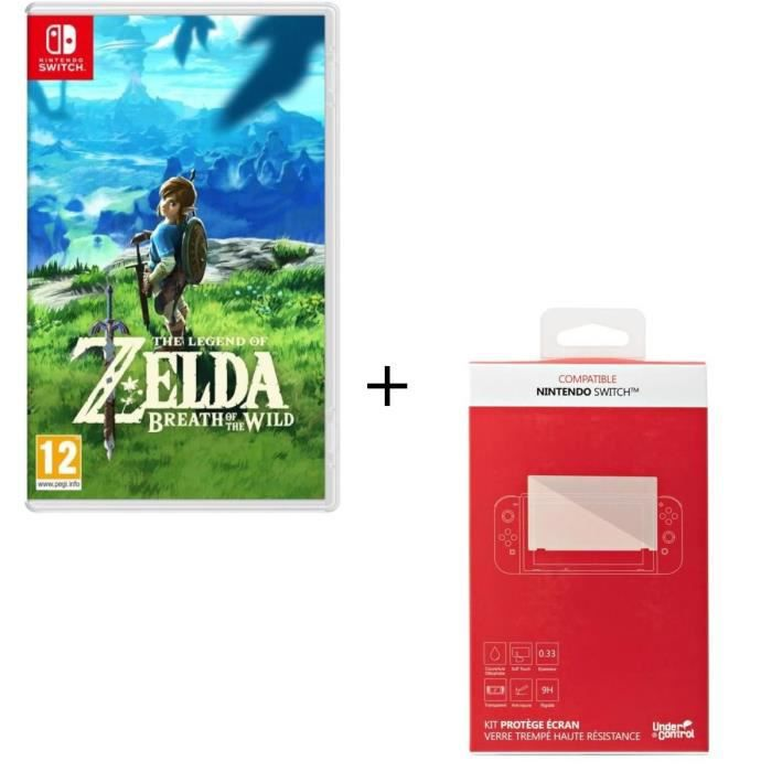 The Legend of Zelda + Kit protège écran verre trempé Nintendo Switch