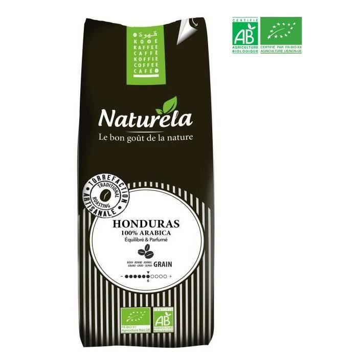 NATURELA Café en grain - Honduras - 100 % Arabica - BIO - 500 g
