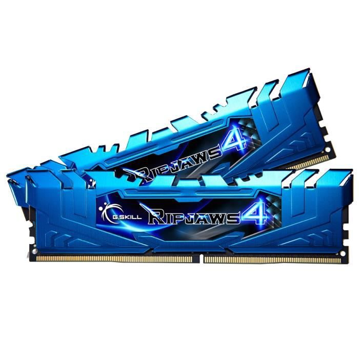 Mémoire kit 16Go (2 x 8Go) DDR4 3000MHz - Ripjaws 4 - Dual Channel - Latence : 15-16-16-35-2N - 1.35V - Sans tamponMEMOIRE PC - PORTABLE