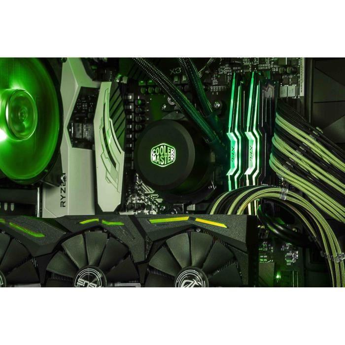 COOLER MASTER Sleeved Extension cable kit Green / Black Kit de câbles universels pour alimentation + peignes (CMA-SEST16GRBK1-GL)