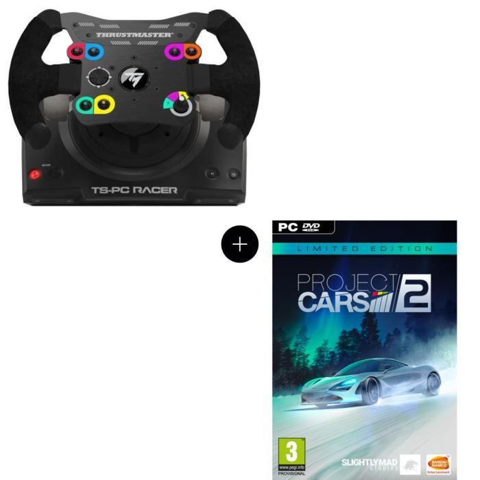 Pack Thrustmaster Volant TS-PC Racer - PC + Project Cars 2 Limited Edition Jeu PC