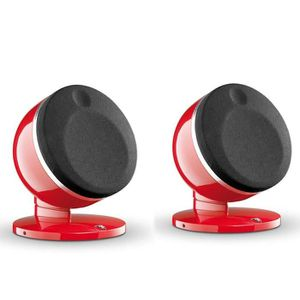 FOCAL DOME Enceintes satellite HiFi rouge (la paire)