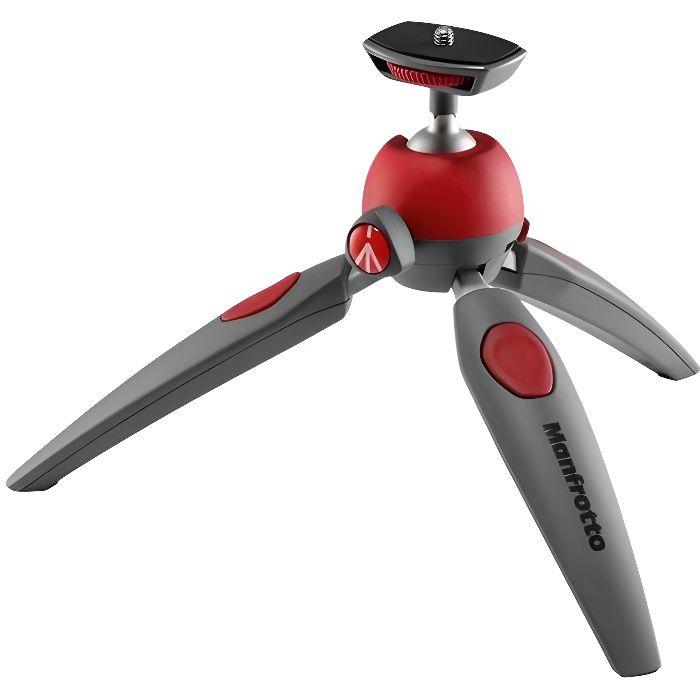 MANFROTTO MTPIXIEVO-RD Mini trépied - Jambes réglables - Mode macro - Rotule avec mode portrait - Charge admissible 1 kg - Noir