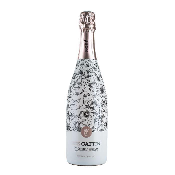 Cattin Ice Premium Demi-sec - Crémant d'Alsace Rosé