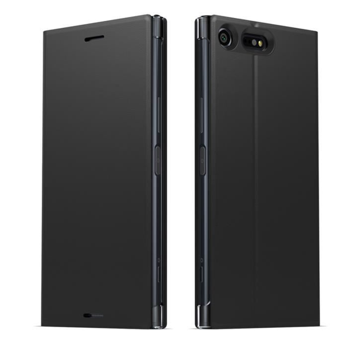 Sony Coque Style cover Stand pour Xperia XZ Premium Noir