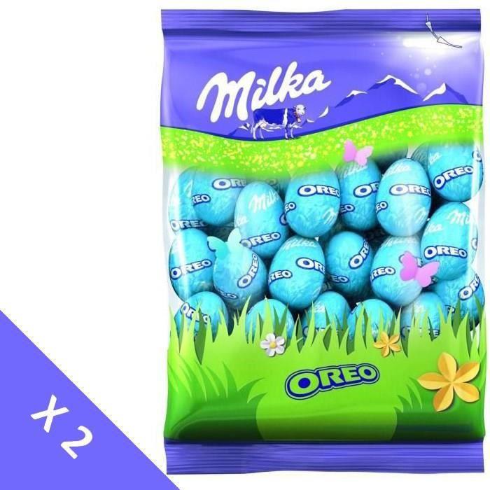 MILKA Chocolats de Pâques - Lot de 2 sachets de Petits Œufs Oreo 350g