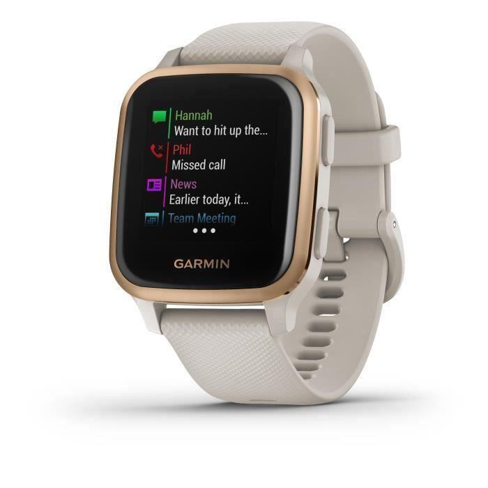 Garmin - Venu Sq Edition Musique - Montre connectée GPS Multi-sports & Santé - Musique au Poignet - Autonomie Longue Durée - Blanc