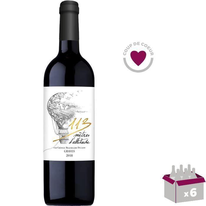 113 mètres d'altitude 2016 Graves - Vin rouge de Bordeaux