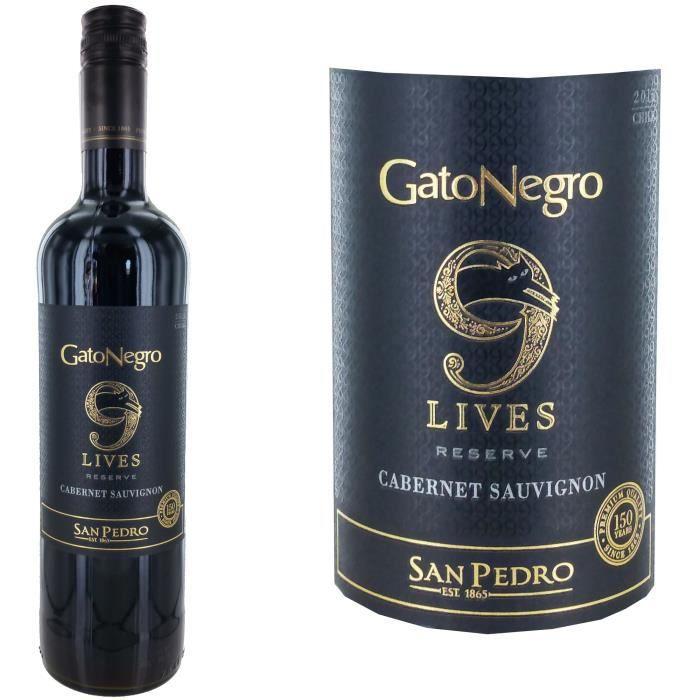 Gato Negro 9 lives San Pedro Cabernet Sauvignon - Vin rouge du Chili