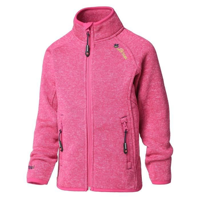 NORTHLAND Veste Polaire Georgie Enfant Fille Fuchsia Chiné