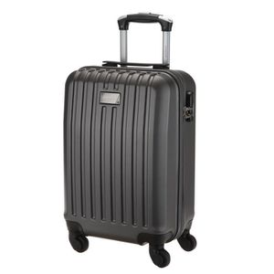 TORRENTE Valise Cabine Low Cost Rigide ABS 4 Roues 45 cm HEBE Gris