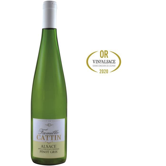 Famille Cattin Pinot Gris 2019 Alsace - Vin blanc d'Alsace