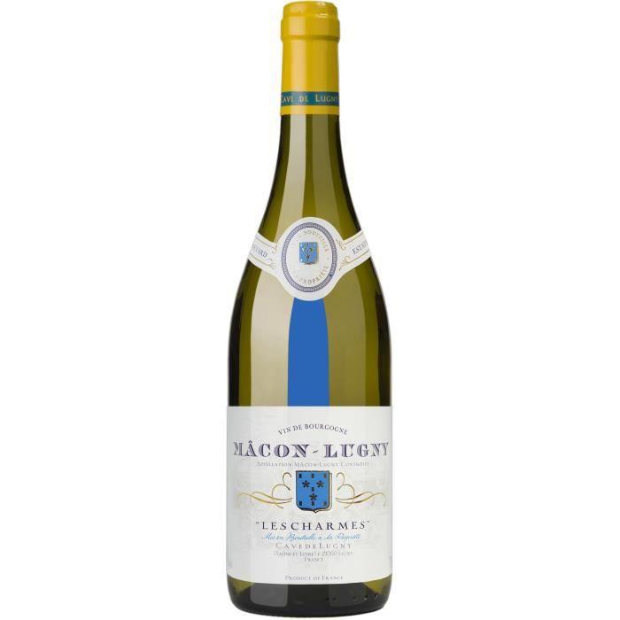 Cave de Lugny Mâcon-lugny Les Charmes - Vin blanc de Bourgogne
