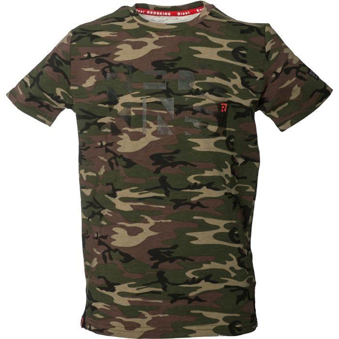 REDSKINS T-Shirt Oruro Camouflage Kaki Garçon
