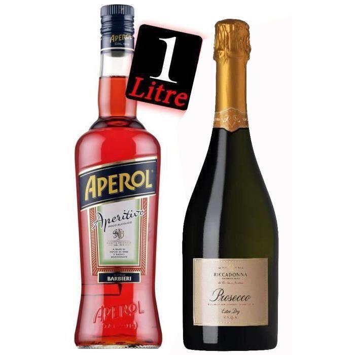 Pack Cocktail Spritz : Apérol 1 L + Prosecco Ricadonna 75 cl