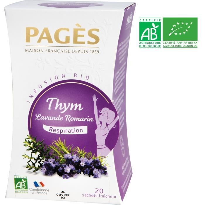 PAGES Infusion Thym, Lavande, Romarin - Bio