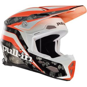 PULL IN Casque Cross Fraise Coloris Orange