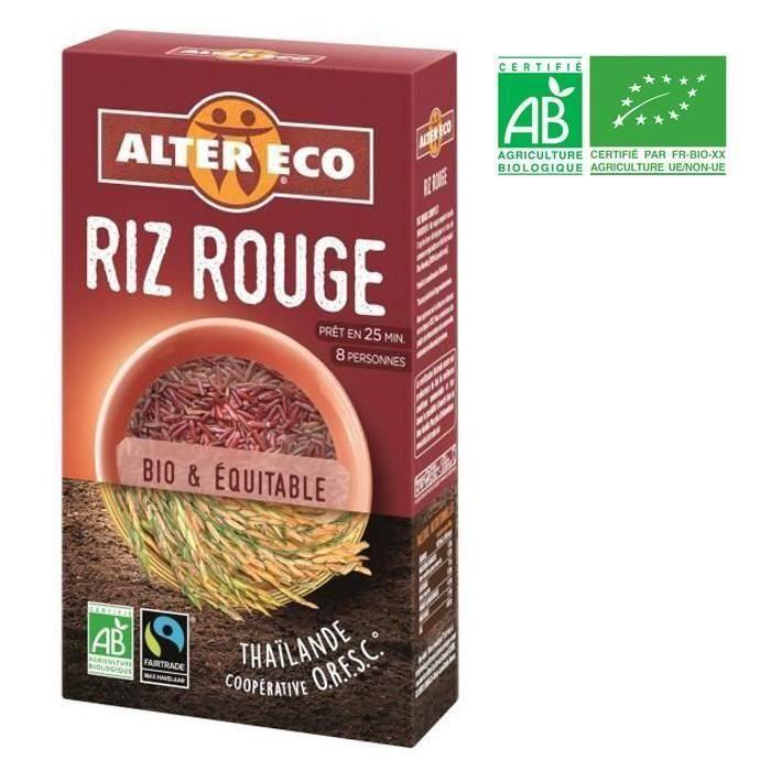 [LOT DE 3] ALTER ECO Riz Rouge Bio 500g