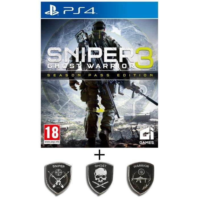 Pack Sniper Ghost Warrior 3 Season Pass Edition Jeu PS4 + Patch set Sniper Ghost Warrior 3