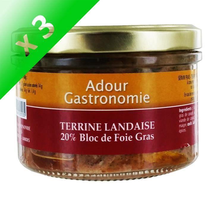 [LOT DE 3] Terrine Landaise (20% Bloc)