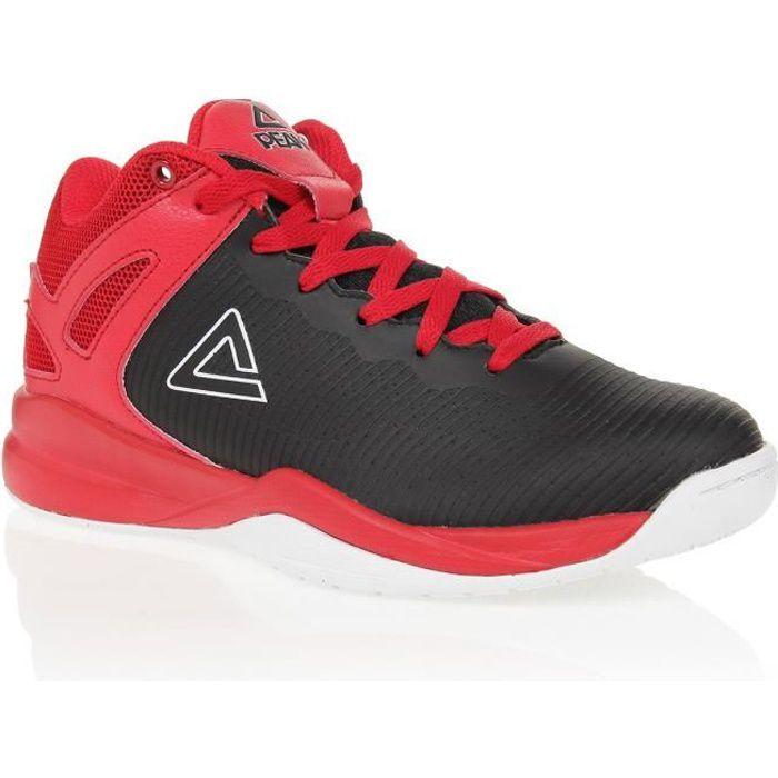 PEAK Chaussures de basketball TP - Enfant - Rouge et noir