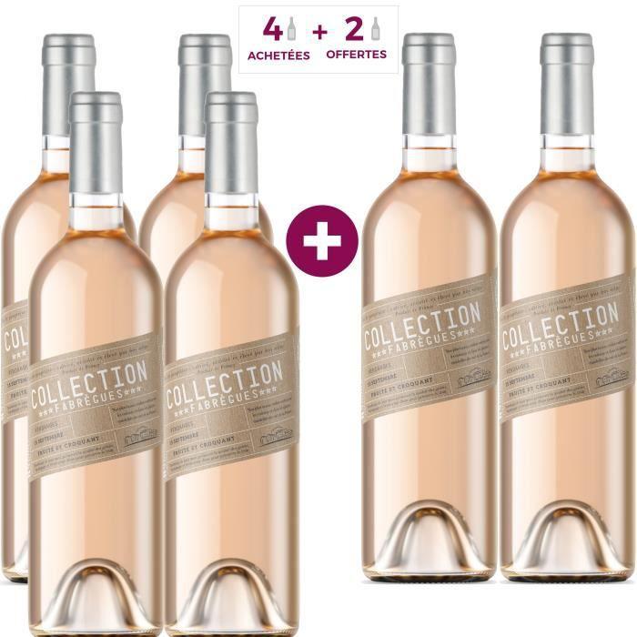 4 achetées = 2 offertes Fabrègues Collection 2019 Hérault - Vin rosé du Languedoc Roussillon