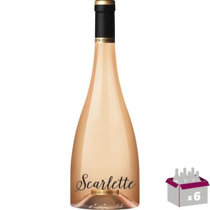 4 achetées = 2 offertes - Sieur d'Arques IGP Oc Scarlette - Vin rosé de Languedoc-Roussillon