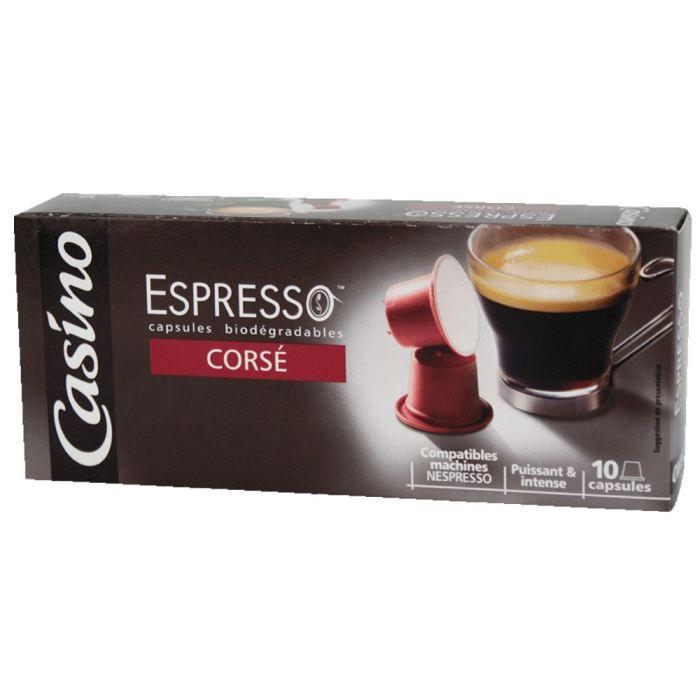CASINO Espresso Corsé - 10 capsules biodégradables