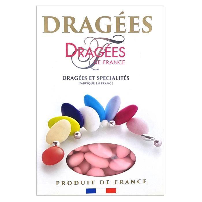 DRAGEES DE FRANCE Dragées Belle de nuit - Rose - 40% d'amande - 1 kg