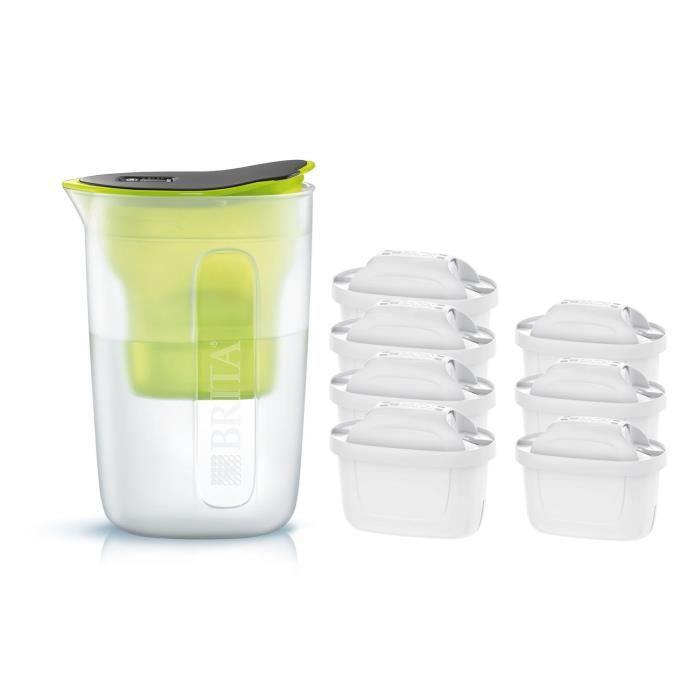 Pack BRITA Carafe filtrante FUN Vert + 7 Cartouches de rechange