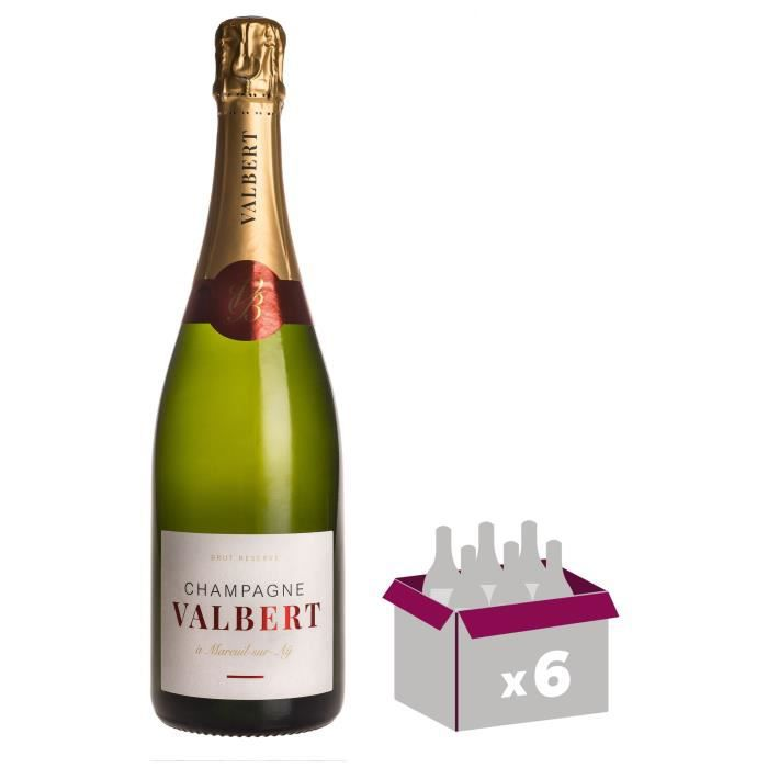 Champagne Valbert Brut - Brut Réserve x6