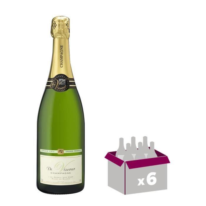 DE VISCOUR Grand cru Champagne - Brut - 75 cl x 6