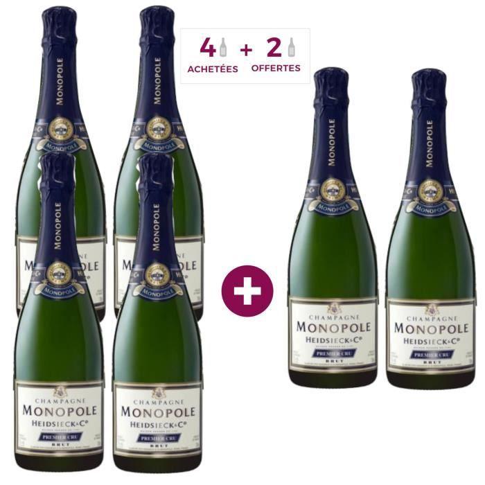 4 achetées + 2 offertes - Champagne Heidsieck Monopole Premier Cru