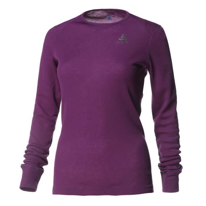 ODLO T-Shirt de randonnée Activ Warm - Femme - Prune