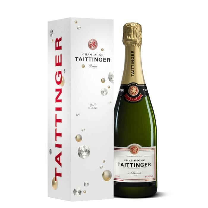 Champagne Taittinger Brut Réserve avec étui - 75 cl