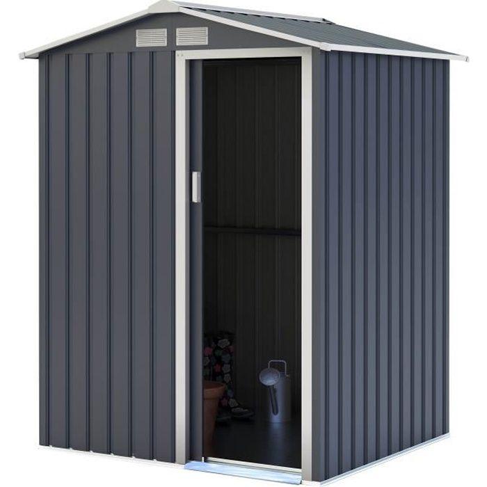 Abri de jardin acier 1,91 m2. avec kit d'ancrage inclus