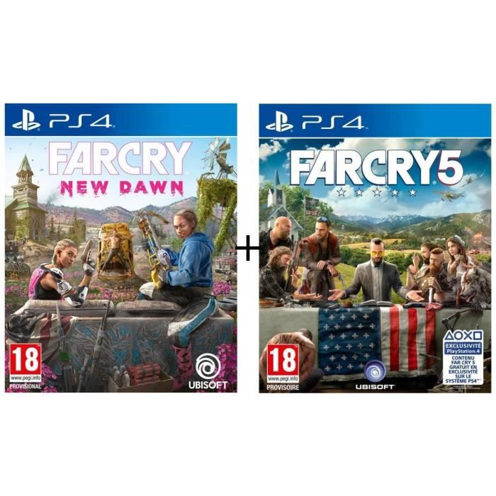 Pack 2 jeux PS4 : Far Cry New Dawn + Far Cry 5